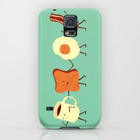 iPhone Cases featuring Let's All Go And Have Breakfast by Teo Zirinis