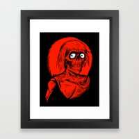 Longing for Brains Framed Art Print