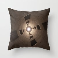 Chambord Castle - Stairs Throw Pillow