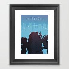 Titanfall Minimalist Poster Framed Art Print