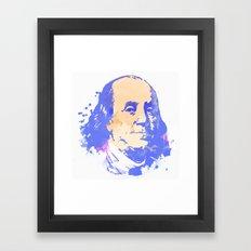 Ben FRANKLIN Framed Art Print