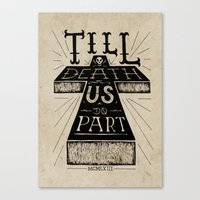 'Till Death Us Do Part Canvas Print
