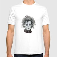 Scissorhands Mens Fitted Tee White SMALL