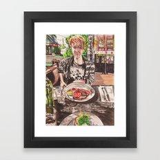 Brunch in Fitzroy Framed Art Print
