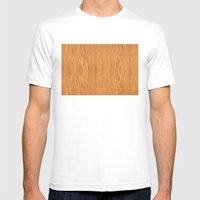 Wood 4 Mens Fitted Tee White SMALL