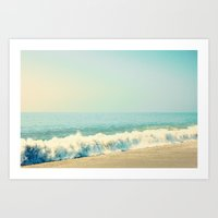 Hard-hitting Waves Art Print