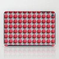 Round and Red 2 iPad Case