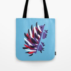 Colorful Abstract Hedgehog Tote Bag