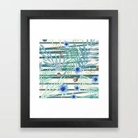 SUMMERTIME STRIPES Framed Art Print