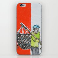 Seaweed Farmer - Island of Bali - Carrying the days Catch iPhone & iPod Skin
