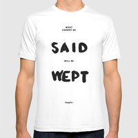 What can not be said will be wept - Sappho Mens Fitted Tee White SMALL