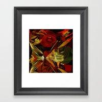 Modern Abstract With Foi… Framed Art Print