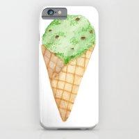 Watercolour Illustrated Ice Cream - Mint Choc Chip iPhone 6 Slim Case