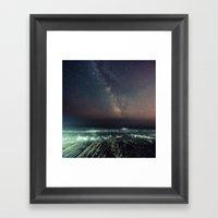 Galactic Beach Framed Art Print