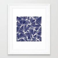 TriangleAngle (Navy) Framed Art Print