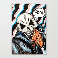 skull foolery Canvas Print
