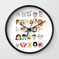 Child Of The 00s Alphabe… Wall Clock