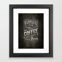 Coffee - Typography Framed Art Print