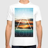 Awaken Your Soul Mens Fitted Tee White SMALL