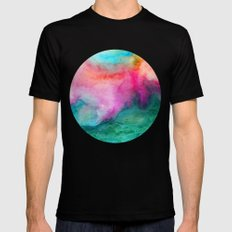 Staring at the Ceiling Black SMALL Mens Fitted Tee