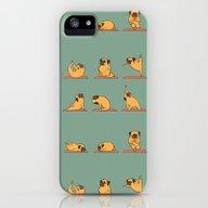 Pug Yoga iPhone (5, 5s) Slim Case