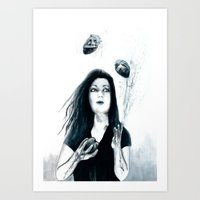 Juggling Hearts Art Print