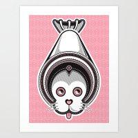 Circus Seal Art Print
