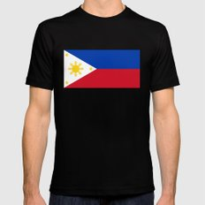 Republic of the Philippines national flag (50% of commission WILL go to help them recover) Mens Fitted Tee Black SMALL