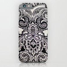 black and white print texture iPhone 6 Slim Case