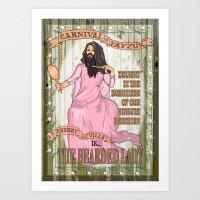Bearded lady Art Print