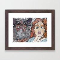 He's a beast. Framed Art Print