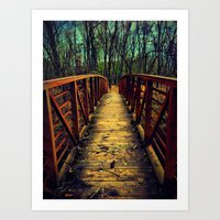 Cross the Bridge. Art Print