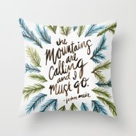 Throw Pillow featuring Mountains Calling by Cat Coquillette