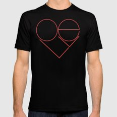 MODERN LOVE Mens Fitted Tee SMALL Black