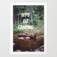 Let's Go Camping II Art Print