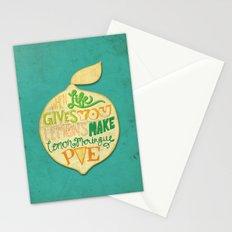 Lemon Meringue Pie Stationery Cards