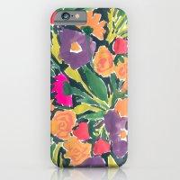 Black Floral iPhone 6 Slim Case