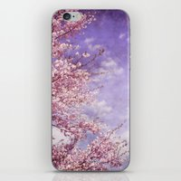 Dream Of Pink Blossoms iPhone & iPod Skin