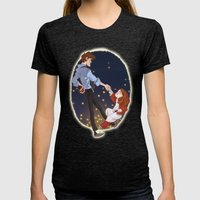 Little Amelia and her Raggedy man. Womens Fitted Tee Tri-Black SMALL