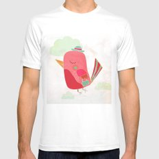 Traveller SMALL White Mens Fitted Tee