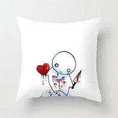No Heart, No Pain. Throw Pillow