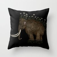 mammoth in bloom Throw Pillow