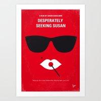 No336 My desperately seeking susan minimal movie poster Art Print