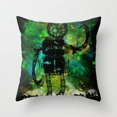 Mad Robot Throw Pillow