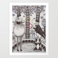 Winter Circus Art Print