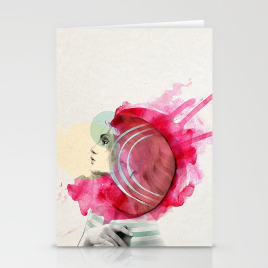 Bright Pink  Stationery Card