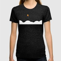 High In The Sky Womens Fitted Tee Tri-Black SMALL