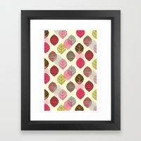 Linear Leaves Framed Art Print