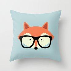 Hipster Red Fox 2 Throw Pillow
