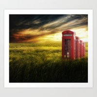 Now home to the red telephone box Art Print
